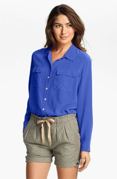 $99 Two by Vince Camuto Silk Utility Shirt | Nordstrom