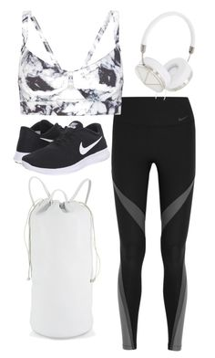 """Marble Gym Outfit"" by maria-bowles on Polyvore featuring NIKE, Varley and Frends"
