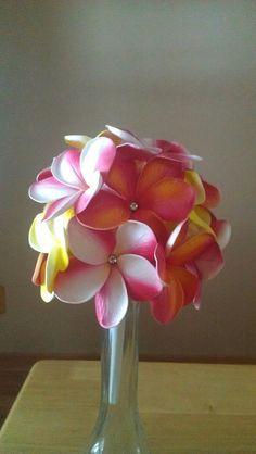 Plumeria wedding bouquet by BellaFloralDesign on Etsy