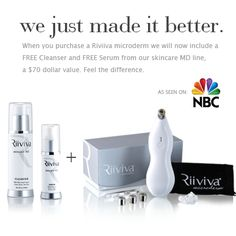 We just made it better! We will now include a free Cleanser and Serum when you purchase a Riiviva Microderm.