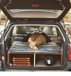 Subaru Outback sleeping platform fully converted and ready to roll! inches head to toe and 3 mor - allingham_woodworking Camping Ideas, Camping Hacks, Camping Guide, Camping Checklist, Auto Camping, Truck Camping, Beach Camping, Suv Camper, Camper Life