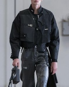 Kpop Outfits, Fashion Outfits, High Fashion, Mens Fashion, 90s Urban Fashion, Fashion Details, Fashion Design, Space Fashion, Cyberpunk Clothes