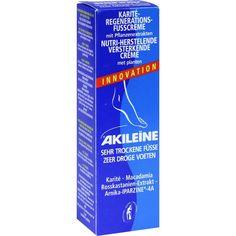 AKILEINE Nutri-Repair Karite-Regen.-Fußcreme:   Packungsinhalt: 50 ml Creme PZN: 00392678 Hersteller: LABOSEPT GmbH Cosmetica Preis: 3,73…