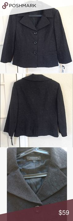 Tahari Liz-Laura lace textured blazer NWT! Gorgeous lace-overlay collared button-down blazer. Brand New With Tags ! Size 12. Tahari Jackets & Coats Blazers