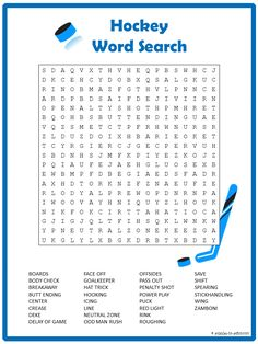 Here is a fun thirty word hockey word search to get everyone ready for the big game. It would make a fun puzzle for your next club get together.