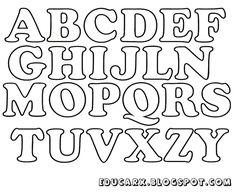 Modelo de letras para cartaz