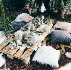 Boho rug picnic