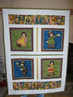 raggedy ann | Raggedy Ann & Andy Quilt by chulapoe on Etsy ... : raggedy ann quilt pattern - Adamdwight.com