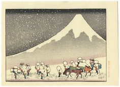 Fuji in Deep Snow by Hokusai (1760 - 1849)