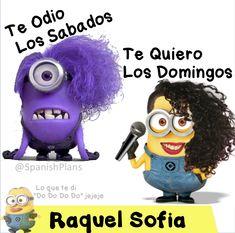 Raquel Sofia Minions Te quiero los domingos