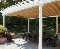 ShadeFX Canopies  Cover your deck or patio with a rectractable shade that attaches to your new or existing pergola. How are ShadeFX canopies different from roll up awnings? Roll up awnings rely on fabric tension for support between their front and back.