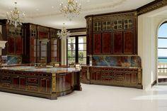 The kitchen inside Le Palais Royal