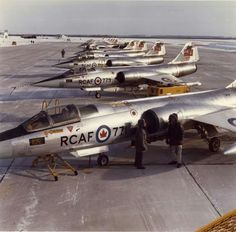 RCAF F-104s at Cold Lake AFB, Alberta, Canada