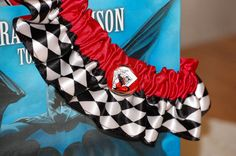 Custom Harley Quinn Themed Comic Garter Set great for Weddings or Conventions. $25.50, via Etsy.