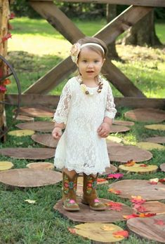 Simply Ivory Lace Dress
