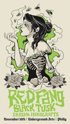 Red Fang #gig #poster #art:
