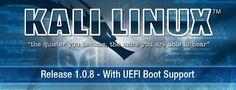 Ya disponible Kali Linux 1.0.8 con soporte para UEFI