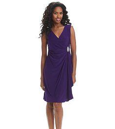R&M Richards® Broach Drape Dress   Bon-Ton