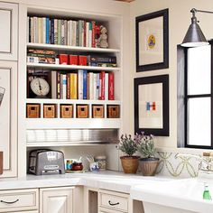 I really would love to have a library of cooking books in my kitchen!!! love this!