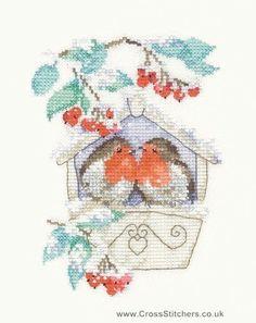 Hideaway - Робинс - Сью Хилл Коллекция Cross Stitch Kit от наследия ремесел:
