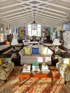 [Blog with Design Tips]  How to Decorate Fearlessly with Orange Rugs. Home of Kate and Andy Spade