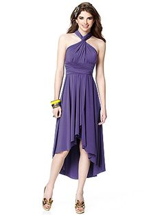 Dessy Twist convertible dress -- let your bridesmaids style their dresses however they want to!