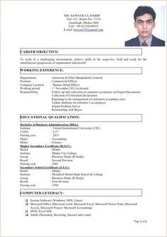Standard Cv Format Bangladesh Professional Resumes Sample Online … Final Cv With Photo Cv Format In Standard Resume Format, Cv Format For Job, Format Cv, Free Resume Format, Resume Format Examples, Simple Resume Format, Resume Format For Freshers, Resume Format In Word, Resume Pdf