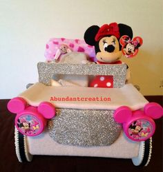 Your place to buy and sell all things handmade Minnie Mouse Car, Minnie Mouse Baby Shower, Baby Shower Cakes, Baby Shower Parties, Baby Shower Decorations, Disney Decorations, Innovation Design, Color Change, Best Gifts