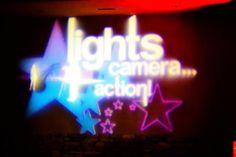Custom Monogram for Hollywood Themed dance  #schooldance #Corporateevents #lighting #Mixfreshevents