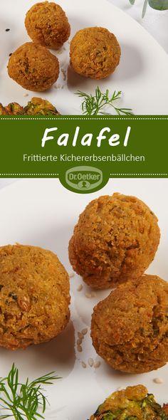 falafel frittierte kichererbsenballchen zum mezze teller vegetarisch