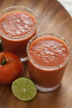 Fresh Tomato Frozen Bloody Mary Recipe for Zing Zang bloody mary mix (THE BEST bm mix) lovers.  Recipe uses frozen fresh tomatoes and no ice.  It's thick, but not too thick.  Not watery.  Can hardly wait to try this with ripe, summer tomatoes from my garden!
