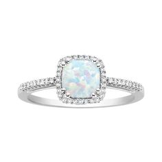 Fred Meyer Jewelers | Opal and Diamond Birthstone Ring