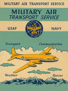 Retrotravel - Military Air Transport Service - art prints and posters