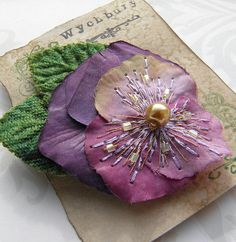 Heather Shade - Pansy Corsage by Paula Perrins and Lesley Rhodes on Etsy