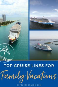 Best Cruise Lines for Families - We compare all of the major cruise lines' offerings and ships to identify the best cruise lines for families. #cruise #cruisetips #cruiseplanning #RoyalCaribbean #NorwegianCruise #CarnivalCruise #DisneyCruise #MSC