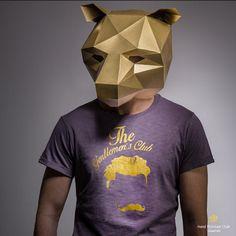 origami mask - bear