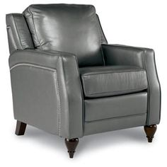 grey leather recliner. Asher Leather Recliner Chair In \ Grey I