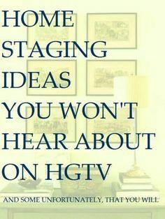 Home Staging Ideas You Won't Hear About on HGTV - laurel home #HomeStaging #HGTV #InteriorDesign