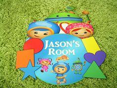 Team Umizoomi Door Tag Door Sign Birthday Bedroom | eBay