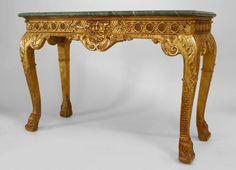 English Georgian table console table gilt