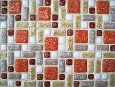 Midcentury tile pattern by JennRation Design, via Flickr