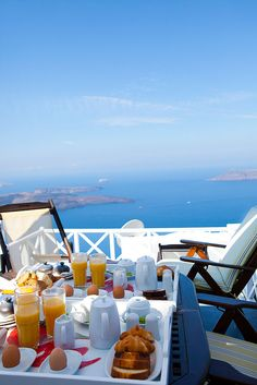 Breakfast on the Santorini Caldera
