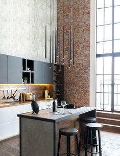 Nova Luce Giono LED függeszték In The Heart, Lighting Design, Kitchen Island, Nova, Living Room, Interior Design, Table, House, Furniture