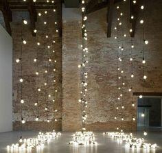 WEDDING TIME: Lighting -- Lights as ceremony backdrop nice wedding decoration Wedding Trends, Wedding Blog, Our Wedding, Perfect Wedding, Dream Wedding, Trendy Wedding, Chic Wedding, Wedding Photos, Budget Wedding