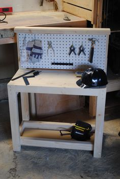 Kids workbench for Christmas. Tools included