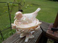 Vintage Westmoreland Glass Cream colored by MJMATTICFINES on Etsy, $45.00