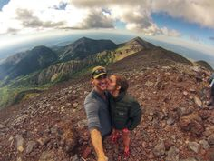 A victory kiss after climbing the highest peak in Arizona - Humphreys Peak. Photographer Jimmy Graham attached is GoPro camera to his tripod using the Tripod Mount: http://shop.gopro.com/mounts/tripod-mounts/ABQRT-001.html#/start=1