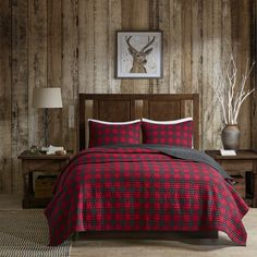 Woolrich Check Red Cotton Percale Printed Quilt Mini Set   Overstock.com Shopping - The Best Deals on Quilts (available at Hayneedle)
