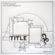 page design to incorporate plenty of paper scraps