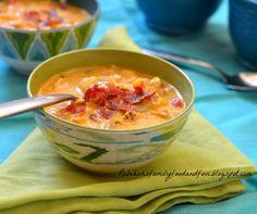Spicy Corn Chowder with Chicken